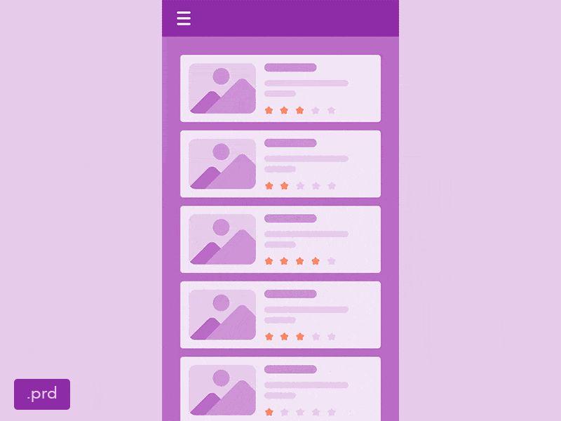 Low Fidelity Mobile App Prototype