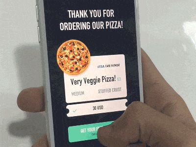Pizza Coupon Rubbing Prototype